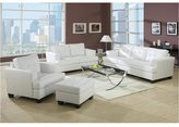 Acme White Bonded Leather Loveseat