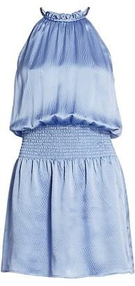 Parker Judith Smocked Silk Dress