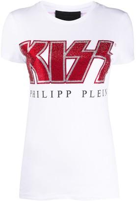 Philipp Plein Kiss embellished T-shirt