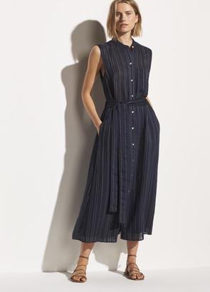 Vince Drapey Stripe Shirt Dress
