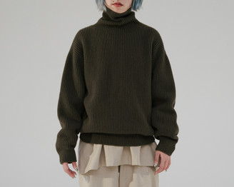 Base Range Maple Green Merino Wool Turtle Neck Dodd Pullover - XS/S | Maple Green