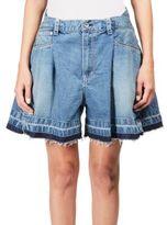 Sacai Flared Denim Shorts