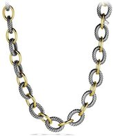 David Yurman XL Sterling Silver & 18K Gold Link Necklace, 18.5""