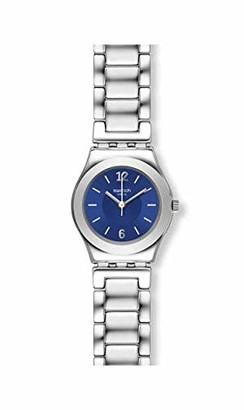 Swatch Womens Analogue Quartz Watch with Stainless Steel Strap YSS331G