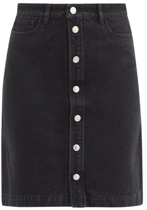 A.P.C. Theresa Denim Mini Skirt - Black