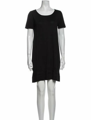 Hermes Scoop Neck Mini Dress Black