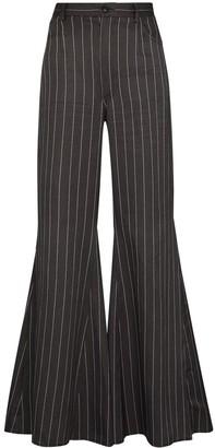 Natasha Zinko Pinstripe Flared Trousers