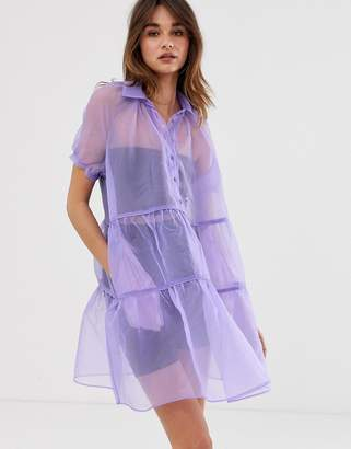 2nd Day Jamboree sheer mini dress