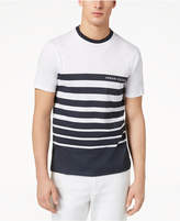 Armani Exchange Men's Stripe Logo-Print T-Shirt, Created for Macy's