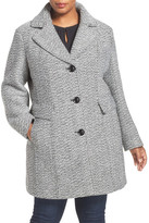 Gallery Tweed Coat (Plus Size)