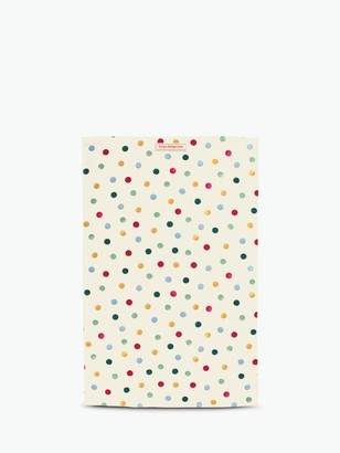 Emma Bridgewater Polka Dot Cotton Tea Towel, Cream/Multi