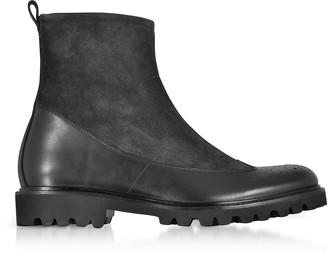 Fratelli Borgioli Black Suede and Leather Boots