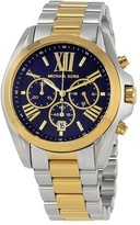 Michael Kors Bradshaw Chronograph Blue Dial Two-tone Ladies Watch