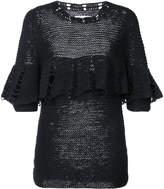 Apiece Apart knitted ruffle trim top