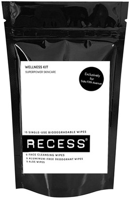 Recess Wellness Kit 15 Single-Use Biodegradable Wipes