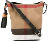 Burberry small 'Ashby' crossbody bag - women - Cotton/Jute/Calf Leather/Leather - One Size