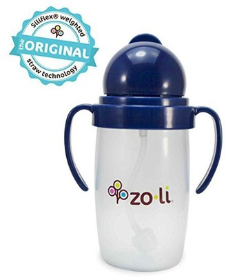 Zo-li Zoli Bot 2.0 10 Oz Straw Sippy Cup Navy