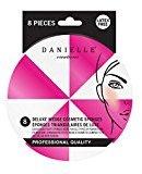 Danielle Creations 8-Piece Contour Makeup Blending Sponge Wedges, Pink/White
