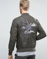 Selected Homme+ Souvenir Bomber Jacket with Embroidery