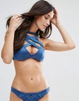 Asos FULLER BUST Exclusive Caged Halter Bikini Top DD-G