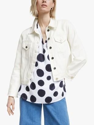 Mother of Pearl Organic Cotton Denim Jacket, Ecru