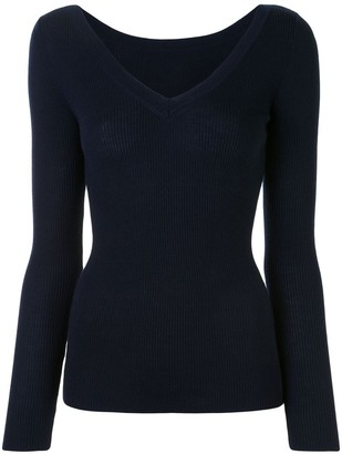 P.A.R.O.S.H. Ribbed-Knit Wool Jumper