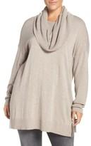 Caslon Plus Size Women's Cowl Neck Tunic Sweater