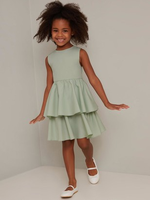 Chi Chi London Girls Hettie Dress - Green