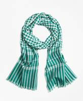 Brooks Brothers Gingham Cotton Scarf