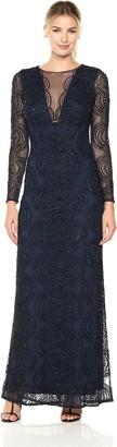 Aidan Mattox Aidan Women's Sleeve Beaded Long Dress