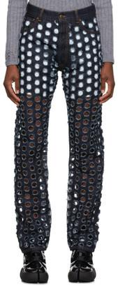 Maison Margiela Blue Perforated Jeans