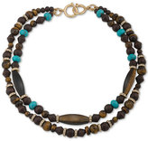 Lauren Ralph Lauren Gold-Tone Multi-Bead and Pavé Layer Necklace