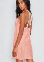 Missy Empire Jacinta Nude Back Detail Slip Dress