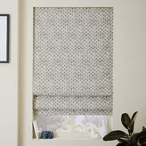 west elm Stamped Dots Printed Roman Shade + Blackout Liner