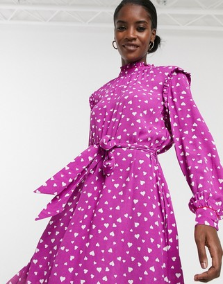 Résumé Resume Millah polka dot print dress in purple
