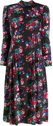 Marc Jacobs Floral Midi Dress