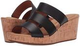 Rockport Lyla 3 Band Slide (Black) Women's Sandals