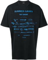Raf Simons Navy Sponsor Print T Shirt