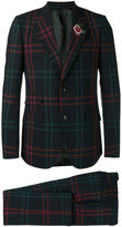 Gucci checked two piece suit - men - Cupro/Viscose/Wool - 48