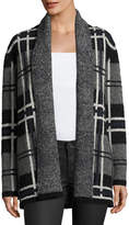 Soft Joie Shyah Plaid Open-Front Cardigan Sweater, Gray