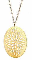 Gold Falling Leaves Pendant Necklace