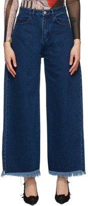 Marques Almeida SSENSE Exclusive Navy Boyfriend Jeans