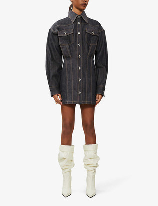 Fenty by Rihanna Corset-stitched stretch-denim mini dress