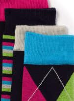 Topman Navy Argyle 5 Pack Socks