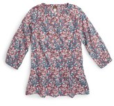 Tea Collection Girl's Azuma Floral Print Drop Waist Top