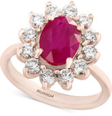 Effy Amoré by Certified Ruby (1-9/10 ct. t.w.) and Diamond (9/10 ct. t.w.) Ring in 14k Rose Gold