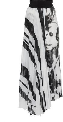 Silvia Tcherassi Gaelle Pleated Printed Silk-Chiffon Midi Skirt