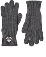 Moncler Men's Logo Wool Gloves