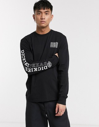 Dickies Millwood long sleeve t-shirt with print in black