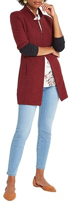 Nic+Zoe Petite Color-Block Me Jacket (Sumac) Women's Clothing